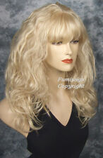 Long Loose Wavy Wig In Pale Blonde /100% Japanese Fibre Brilliant Quality