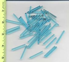LEGO x 50 Trans-Light Blue Bar 4L NEW lightsaber blade bulk lot