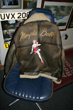 MEMPHIS BELLE B3 LEATHER FLYING JACKET B17 PILOT FLIGHT GENUINE FILM AIRCREW S