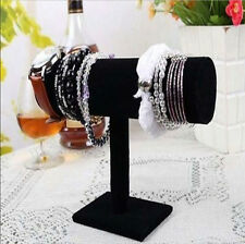 Velvet T-Bar Jewelry Rack Bracelet Necklace Stand Organizer Holder Display NEW
