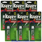 6 Packs Krazy Glue Instant strong Glue crazy fast Tube All Purpose 0.07oz