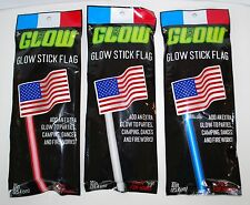 Patriotic Glow Stick Wand American Flag Red White Blue Bundle Non Toxic