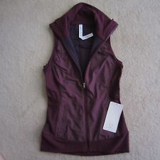 Lululemon Won't Stop Vest Hyper Stripe Plum 4 way stretch Size 4