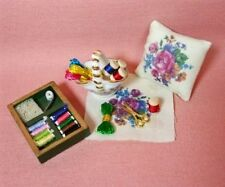 Dollhouse Miniature Sewing Room Needlepoint Set