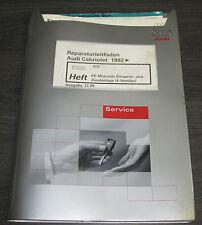 Werkstatthandbuch Audi Cabrio B3 Typ 89 Motronic Einspritzanlage ACE 4 Ventiler