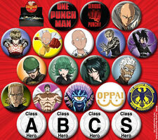 One Punch Man Japanese Anime Art Button Assortment of 144 NEW UNUSED BOXED