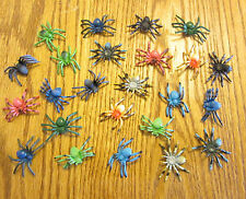 "24 NEW TOY SPIDERS FAKE CREEPY SPIDER HALLOWEEN PROP 2"" SIZE PARTY FAVOR PRANK"
