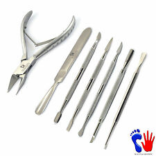 Professional Manicure Pedicure Tools Cuticle Pusher Ingrown Toe Nail Nippers