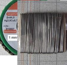 Lötzinn bleifrei , 10m , Lötdraht 1mm Sn95,5Ag3,8Cu0,7 silber- und kupferhaltig