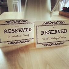 Wedding Reserved Sign - Vintage/Shabby Chic Style - Ivory