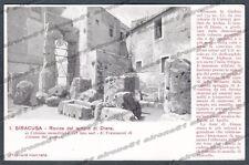SIRACUSA CITTÀ Cartolina 01. Serie CASA DEI VIAGGIATORI Edizione inizio '900