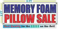 MEMORY FOAM PILLOW SALE Banner Sign NEW Larger Size Best Quality for the $$$