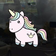 Rainbow Hair Cute Unicorn - Vinyl Decal for Outdoor Use on Cars and more! 6 inch