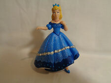 Papo 2003 Heavy PVC Dancing Princess Sophie Blue Gown Figure or Cake Topper