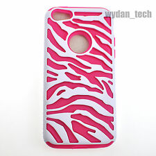 For Apple iPhone 5C Hybrid Zebra Dual Layer Impact Case Hard Gel Cover