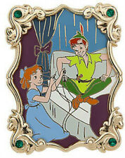 Disney 60th Anniversary Jeweled Frame Peter Pan and Wendy Portrait pin LE 250