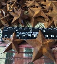 """50 TOTAL Rusty Barn Stars (25) 1.5"""" 38mm & (25) 2.25"""" 64mm Country Rust Craft"""