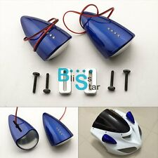 Blue Custom LED Mirrors Turn Signals For Suzuki Hayabusa GSXR1300 99-07 EV