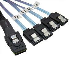 70CM Mini SAS 4i SFF-8087 36P 36-Pin Male to 4 SATA 7-Pin Splitter Adapter Cable