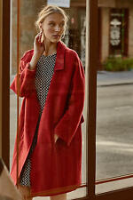NEW ANTHROPOLOGIE $238 RED BRIENNE COAT BY ELEVENSES SZ L LARGE