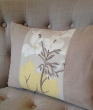 "12x16"" Cushion cover Laura Ashley Millwood Camomile/ Bacall Truffle"