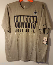 Nike Dri-Fit Dallas Cowboys Legend Just Do It T-Shirt Gray Men's Size 4XL NWT