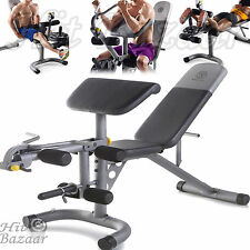 Weight Bench Home Gym Olympic Workout Weights Lifting Adjustable Equipment Press