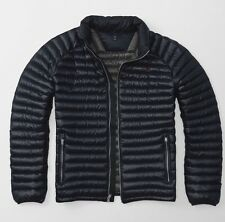 Abercrombie and Fitch ultra leggero verso il basso piumino Blu Scuro-MEDIUM