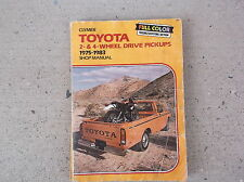 Clymer TOYOTA Pick-ups-2 and 4 wheel drive-1975-1983 Used
