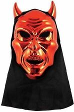 Adult Red Devil Mask With Attached Hood #halloween #halloween masks
