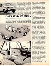 1967 FIAT 125  ~  ORIGINAL SINGLE-PAGE ARTICLE / AD