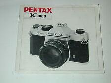 notice PENTAX K1000  photo photographie en français