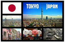 TOKYO, JAPAN - SOUVENIR NOVELTY FRIDGE MAGNET - FLAGS / SIGHTS - GIFT  BRAND NEW