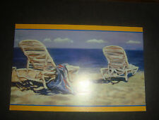 Vintage Printed Post Card Collection Painting Chairs by the Ocean Harlequin Ent.