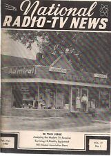 NATIONAL RADIO-TV NEWS February-March 1956 technical newsletter