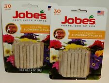2 Package Jobes Fertilizer Spikes For Prolific Flowering Plants 10-10-4 60ct NIP