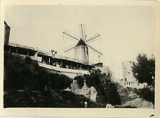 PHOTO ANCIENNE - VINTAGE SNAPSHOT - MOULIN À VENT CONTREPLONGÉE - WINDMILL