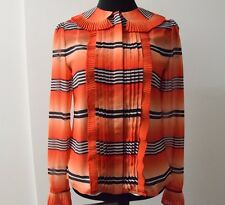 Temperley London Rust Mix Bacall  Blouse Shirt without lining SIZE UK 10 ... #*7