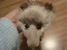 Blue fox Stole  tanned furs pelt taxidermy coat Mounted head soft fluffy coyote