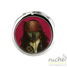 """TOP QUALITY """"PETS ROCK"""" Cosmetic COMPACT MIRROR - """"PIRATE"""" Design"""