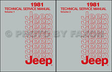 1981 Jeep Repair Shop Manual CJ 5 CJ7 CJ8  Scrabmler Cherokee Wagoneer Truck