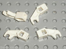 4 x LEGO White Mechanical Arm ref 76116 / Set 4182 2263 2506 2518 2521 30081 ...