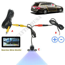 UNIVERSAL Car Rear View Reverse Camera Kit BackUp HD Color CCD Waterproof