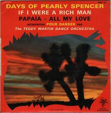 """TEDDY MARTIN DANCE ORCHESTRA """"DAYS OF PEARLY SPENCER"""" 60'S EP TRIANON 4640"""