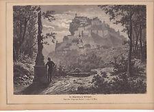 Alter Holzstich1877:die Riegersburg in Steiermark-nach einer Skizze v.R.Zander