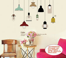 Pendant Lamp Wall Sticker Removable Mural PVC Home Room Art Decor Decal