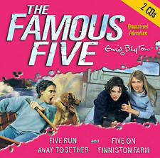 FAMOUS FIVE- FIVE RUN AWAY TOGETHER: & FIVE ON FINNISTON FARM-ENID BLYTON-CD