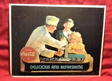 Coca Cola Vintage Retro Tin Sign Delicious And Refreshing 12x16