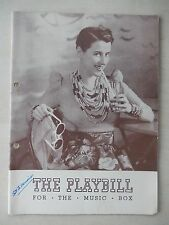March 18th, 1939 - Music Box Theatre Playbill w/Ticket - Set To Music - Lillie