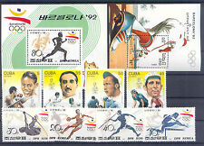Olympiade 1992, Olympic Games - LOT 8 Werte, 2 Bl. ** MNH